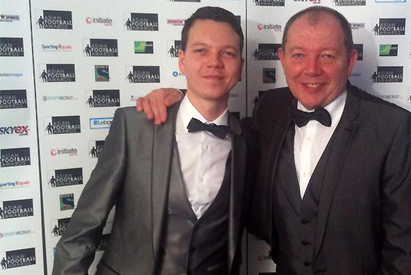 James and Dave Garley at the Asian Football Awards 2012