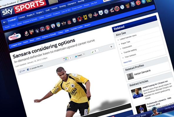 Netan Sansara on the Sky Sports website