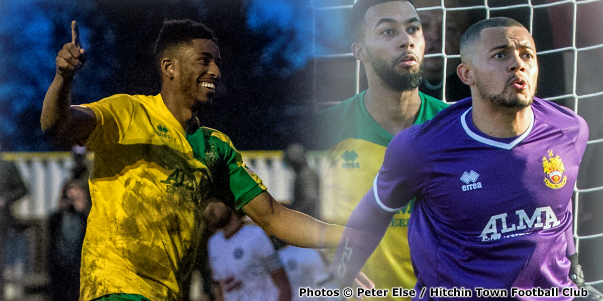 Tremayne (Trey) Charles and Michael Johnson - Match Action - Hitchin Town - 2018-2019 (1) (photos copyright Peter Else and Hitchin Town Football Club)