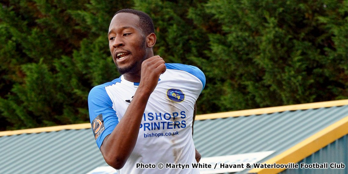 Nicke Kabamba (photo copyright Martyn White and Havant & Waterlooville Football Club)